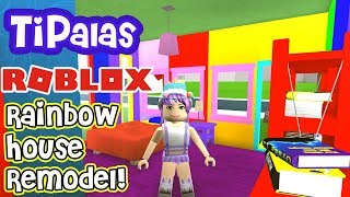 ROBLOX BLOXBURG: Remodel The FREE BLOXBURG House Into A RAINBOW House By TiPalas