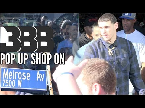 LONZO BALL & LAVAR BALL Pop Up Shop on MELROSE AVENUE Is Packed FANS LINED Around the Block😳