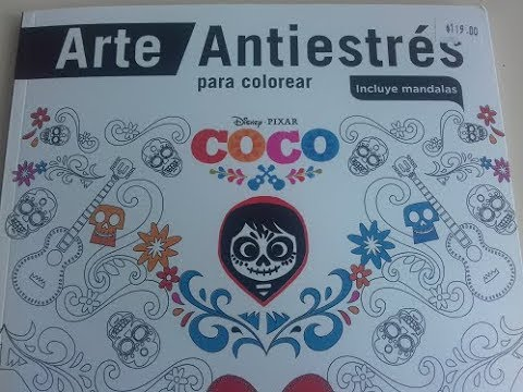 Coco Disneypixar Libro Para Colorear Antiestres Youtube