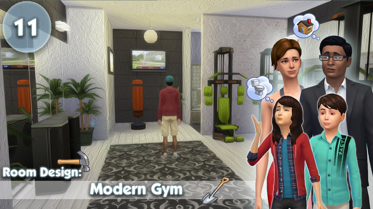 The sims room design modern gym youtube