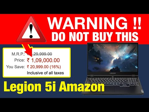 Lenovo Legion 5i Available on Amazon India | Do not buy this model