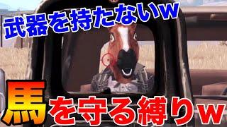 【PUBG MOBILE】武器を一切使えない『お馬さん』を守る新しい縛りが鬼畜…
