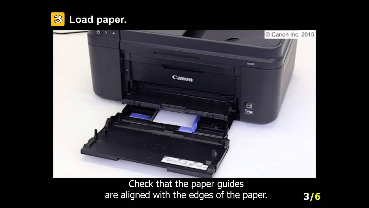 pixma mx492 loading the paper [ 1280 x 720 Pixel ]
