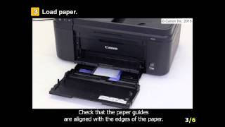 Canon mg5650 load paper tray
