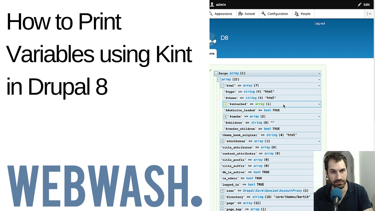 How to Print Variables using Kint in Drupal 8 - WebWash