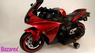 Toy Yamaha R1 Bike with Rechargeable Battery Operated Ride-on for Kids