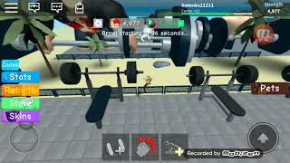 How to get tiny in the weight lifting simulator 3. At Roblox