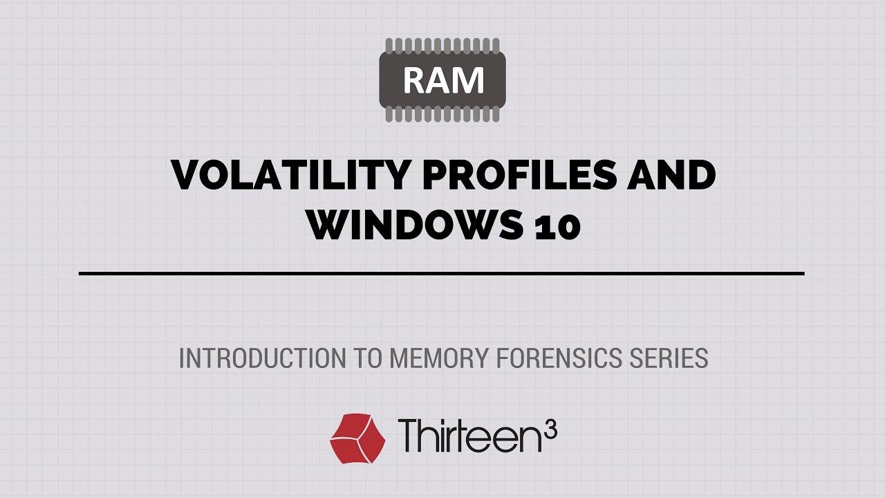 Volatility Profiles and Windows 10