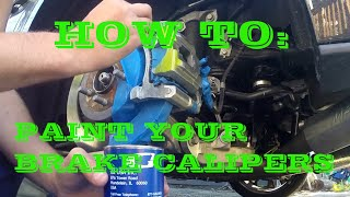 How to Paint Brake Calipers | Apply Caliper Decals | FAST and EASY!!