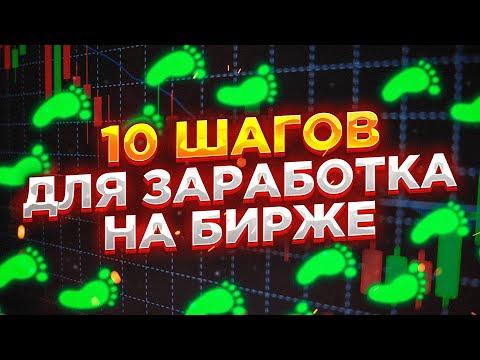 Трейдинг для начинающих. 10 шагов для заработка на бирже с нуля.