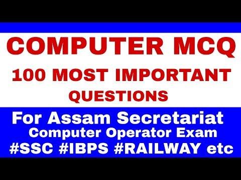 COMPUTER MCQ - 100 MOST IMPORTANT QUESTIONS