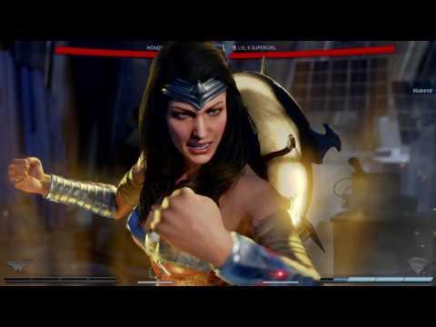 Injustice 2 Wonder Woman Vs. Supergirl
