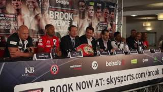 KELL BROOK v ERROL SPENCE - *FULL & UNCUT* HEATED PRESS CONFERENCE / BROOK v SPENCE