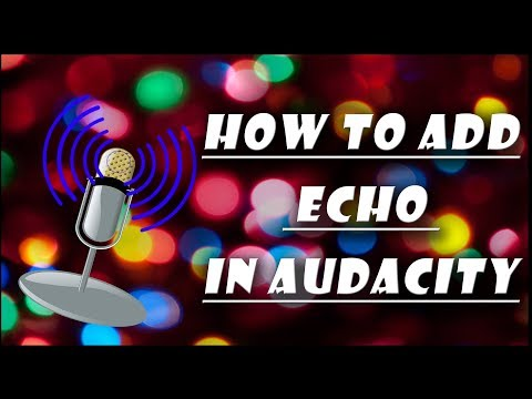 Applying ECHO in any audio using audacity