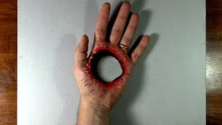 3D Trick Art - Hole in my Hand