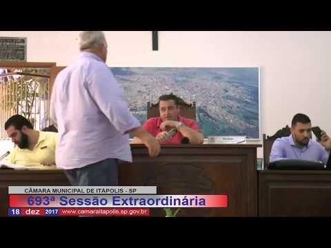 Sessão Extraordinária - 18 de Dezembro de 2017   Câmara Municipal de Itápolis - SP