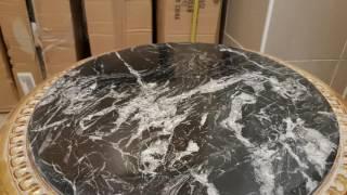 Čištění mramorových desek stolů, stolků na hotelech