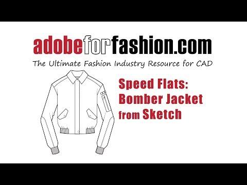 Speed Drawing Bomber Jacket Youtube
