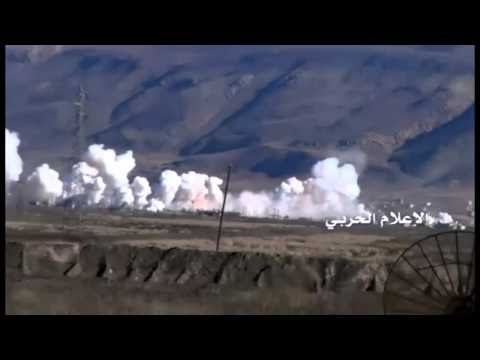 SAA firing Russian MLRS on militant positions