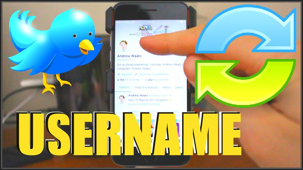 How To Change Twitter Username In Mobile Phone For iPhone & Android 2017
