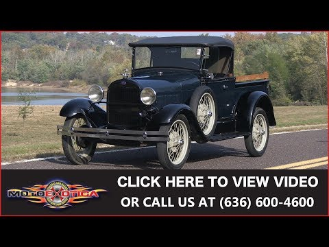 1928 Ford Model A Open Pickup || SOLD
