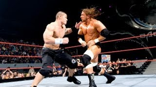Edge vs Triple H vs John Cena Highlights - Backlash 2006