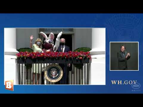 Biden Admin Puts Mask on White House Easter Bunny