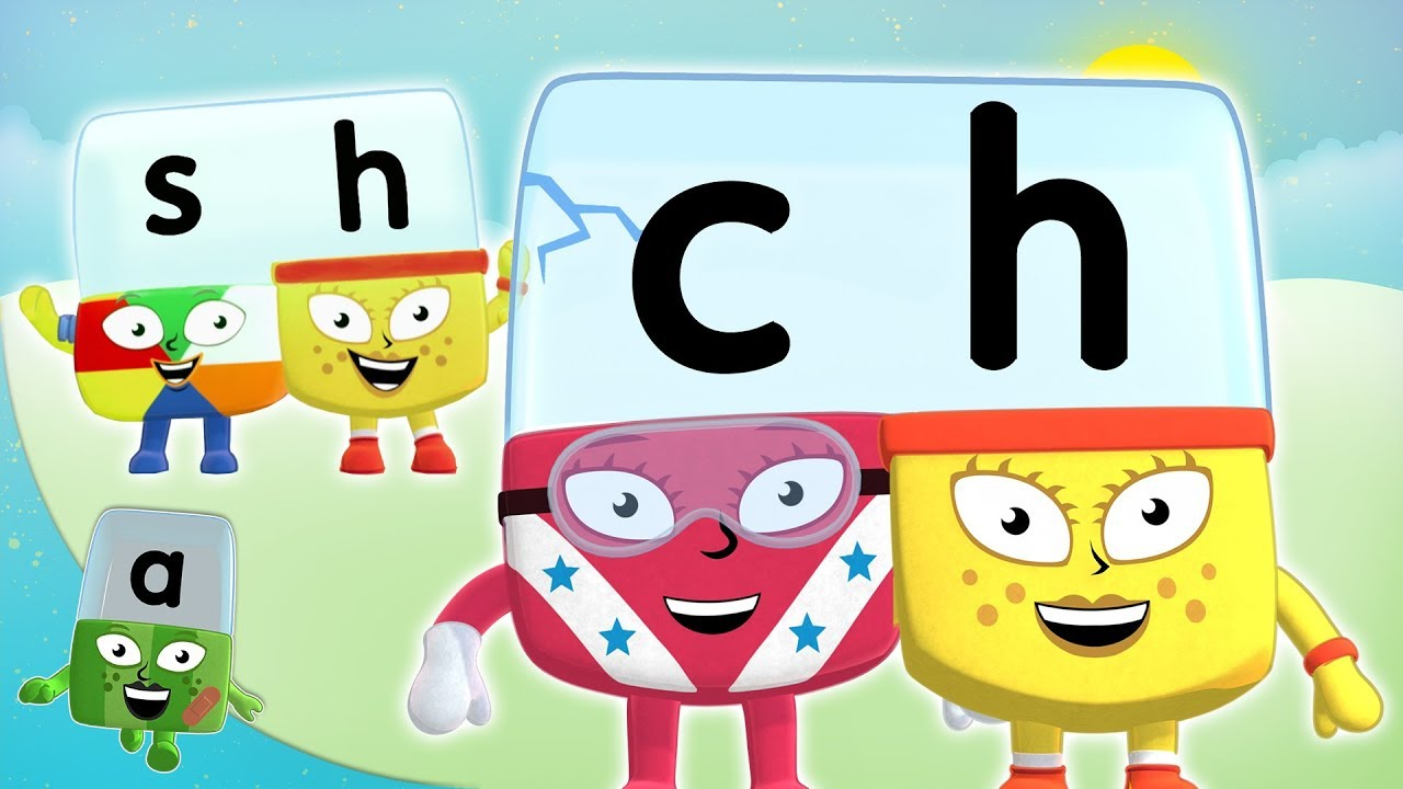 Alphablocks - SH & CH Letter Teams | Learn to Read | Phonics for ...