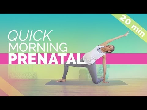 Quick Easy Prenatal Morning Yoga Routine 20 Min For All 3 Trimesters Youtube