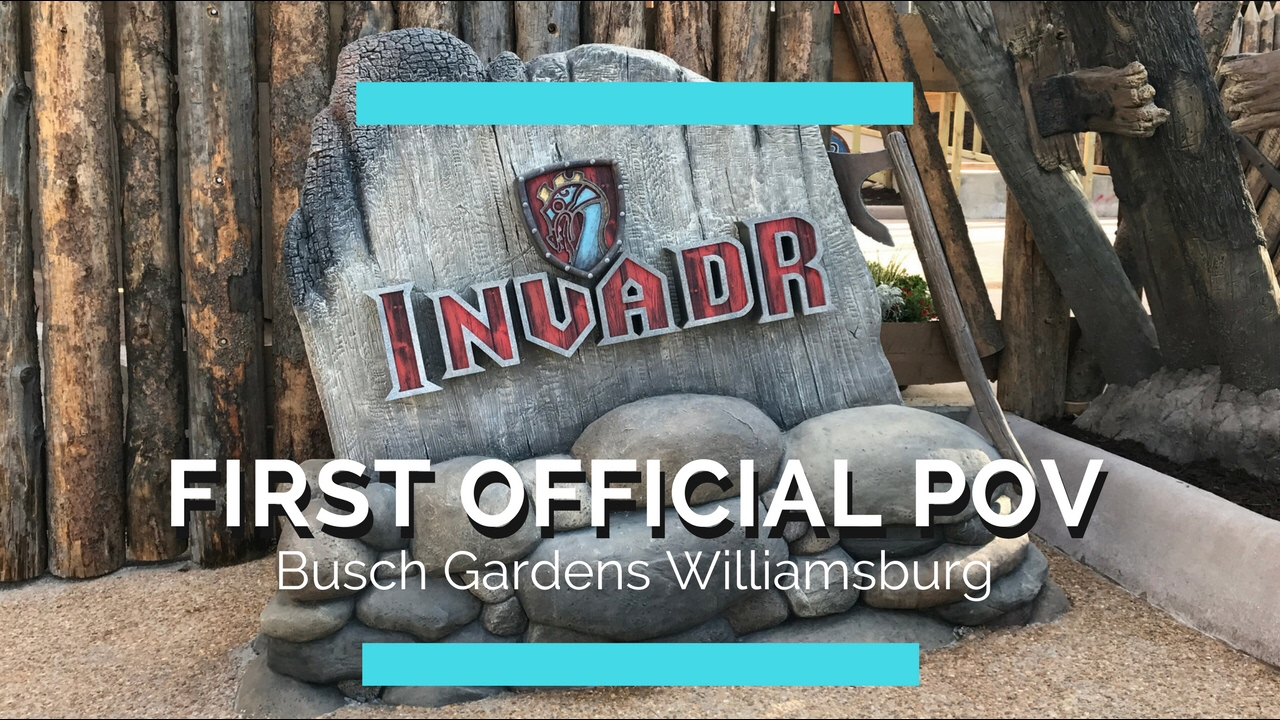 First official pov of invadr at busch gardens williamsburg - Busch gardens williamsburg invadr ...