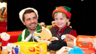 Isaac's wish for a toy workbench comes true with help from Macy's