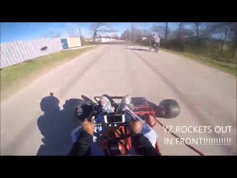 Twin Predator Kart vs ATV & Dirtbike [Go Pro HD]