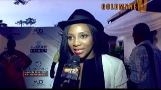 Stephanie Okereke Funke Akindele at the launch of ST GENEVIEVE