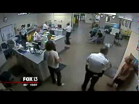 BRUTALITY! Corrections Officer Clothes Lines An Inmate! Excessive Force )