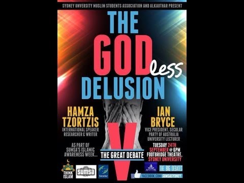 SUMSA - Debate The Godless Delusion Hamza Tzortzis Vs Ian Bryce (HD)