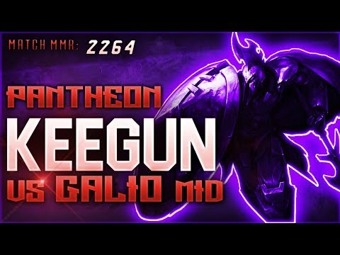 S8 | Keegun Pantheon vs Galio MID | Ranked League VOD