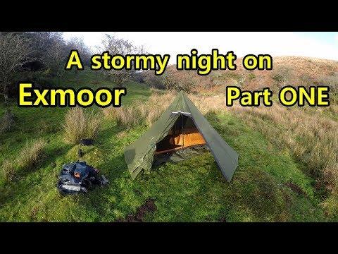 Stormy Night Wild Camping Adventure Exmoor  Part One