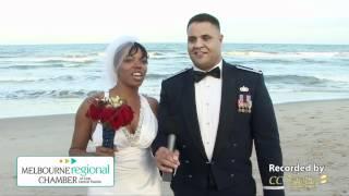 Happy Bride & Groom Talk About Destination Weddings on Florida's Space Coast & the Melbourne Coast