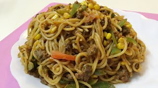 Testy Keema Spaghetti - Spaghetti Recipe By Cooking Passion #SpecialAftarRecipe
