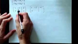Метод Гаусса, 2х2, 2014-11-03