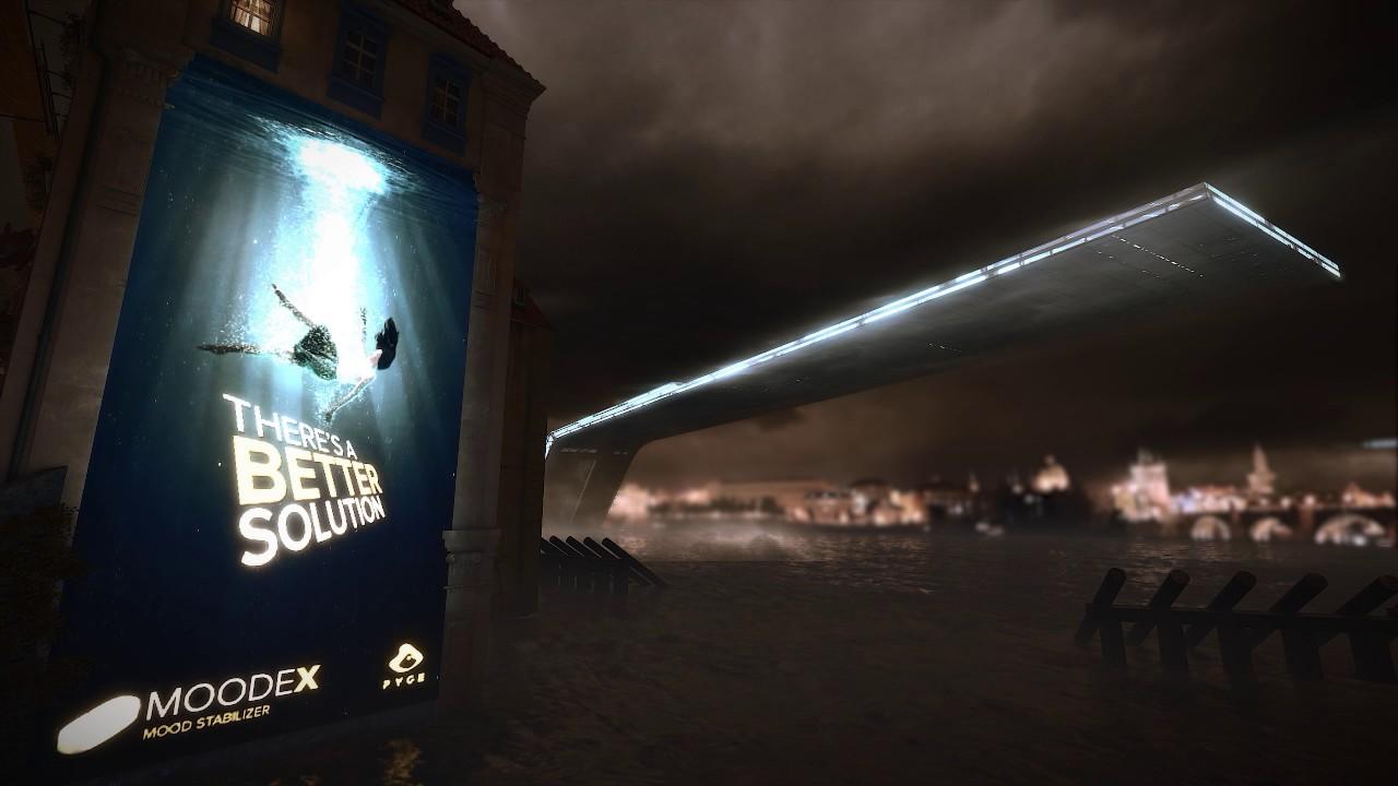 Deus Ex Mankind Divided Prague Overlook Qhd Wallpaper Engine