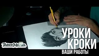 Уроки Кроки | Ваши Работы #10 - Plan Art  Портрет Oliver S  Sykes Bring me the horizon