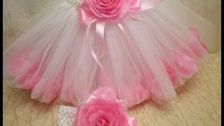 Юбка Туту  с Лепестками Роз / Tutu Skirt with Beautiful Rose - DIY/Tutorial / Flower. Часть 1.