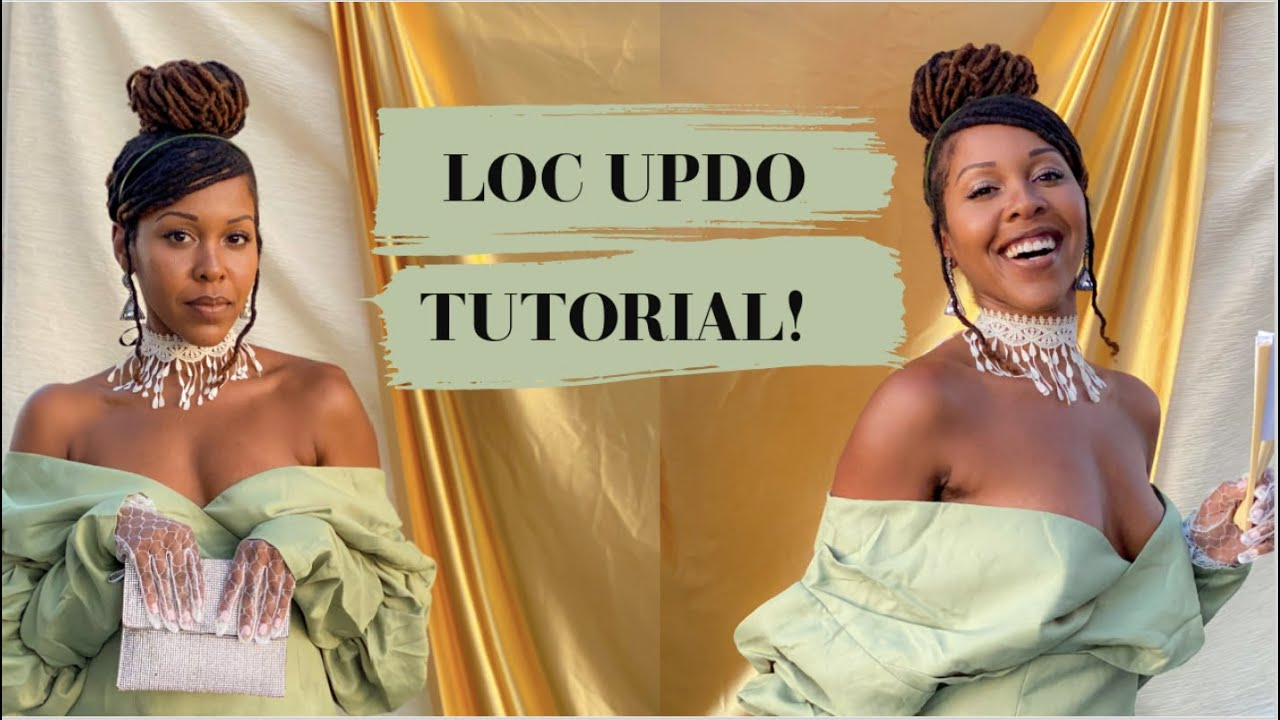 Loc Updo Tutorial | Medium Length Locs