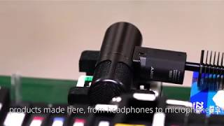Sony's C-100 Hi-Res Mic Manufacturing Process and Test
