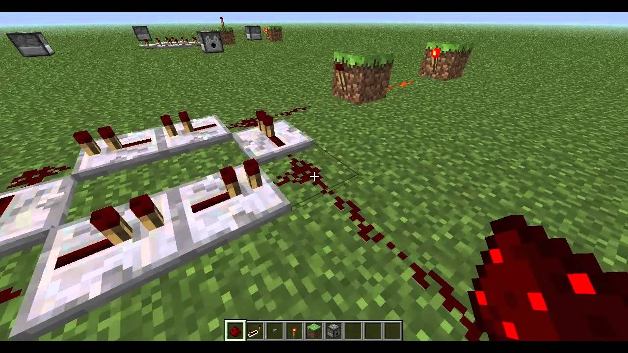 how to make a simple redstone circuit minecraft repeater clock rh youtube com