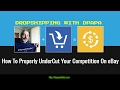 How To Properly UnderCut Your Competition On EBAY using Profit Sku - [ Free Training ]