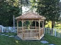 Gazebo Installation - 10ft Hexagon Gazebo Panelized by Cedarshed