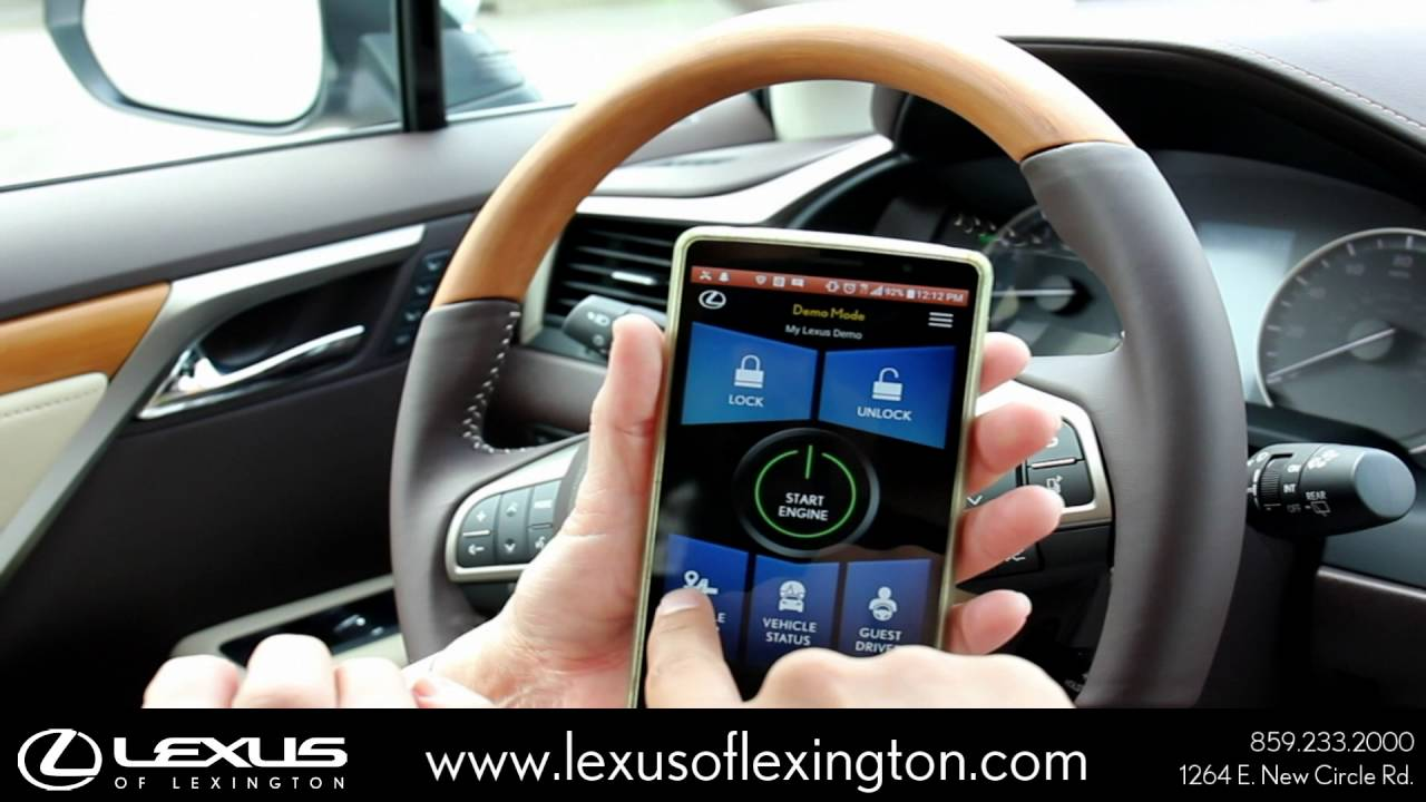 How To Use The Lexus Enform Remote App In A 2016 Lexus Rx