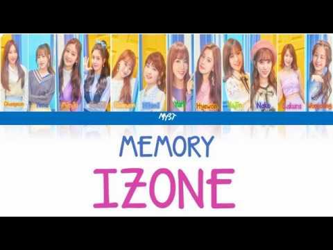 IZ*ONE (아이즈원) – MEMORY (비밀의 시간) (INDO SUB) (Color Coded Lyrics Indo/Rom/Han/가사)